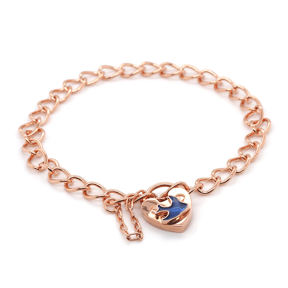 Rose Plated 16cm Children's Bluebird Bracelet