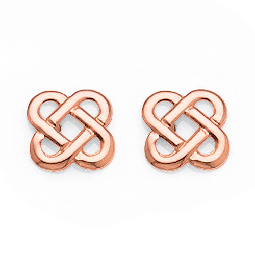 9ct Rose Gold Celtic Studs