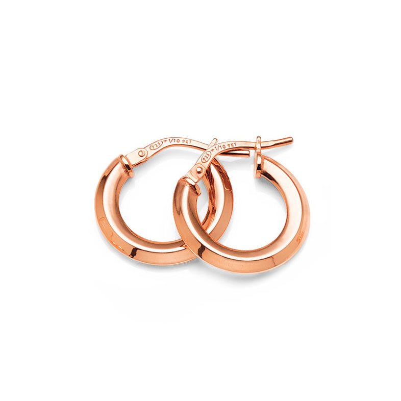 Rose Gold Bonded 10mm Hoops