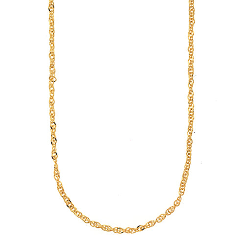 9ct Yellow Gold 42cm Singapore Link Chain