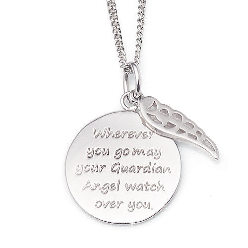 Sterling Silver 'Guardian Angel' Pendant