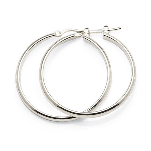 Sterling Silver 30mm Hoops