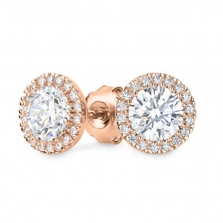 Georgini 'Yoyo' Rose-Tone CZ 6mm Studs E682RG