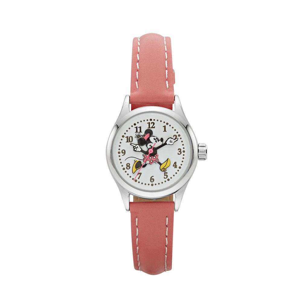 Minnie Mouse Pink Leather Watch TA56712