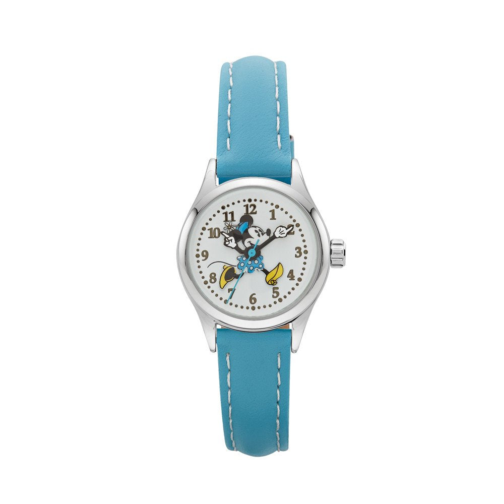 Minnie Mouse Aqua Leather Watch TA56713