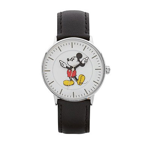 Mickey Mouse Black Leather Watch TA78401
