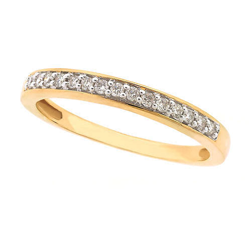 18ct Yellow Gold Diamond Band