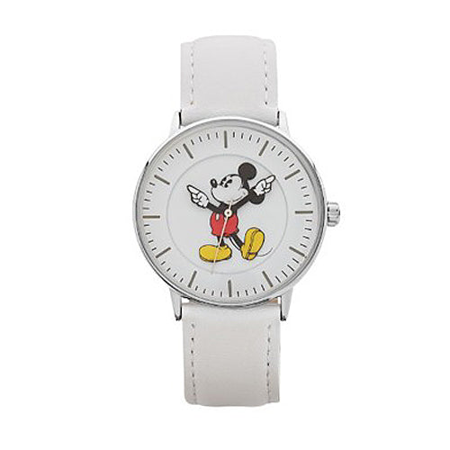 Mickey Mouse White Leather Watch TA78402