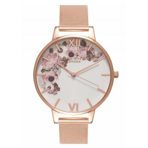 Olivia Burton Winter Garden Mesh Watch OB16WG18