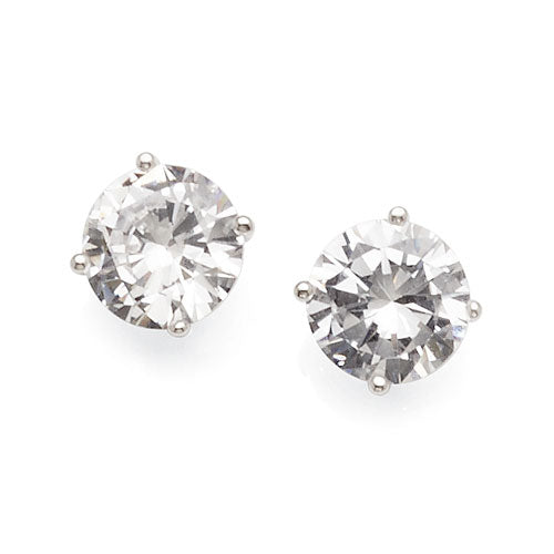 Sterling Silver 7.5mm Cubic Zirconia Studs