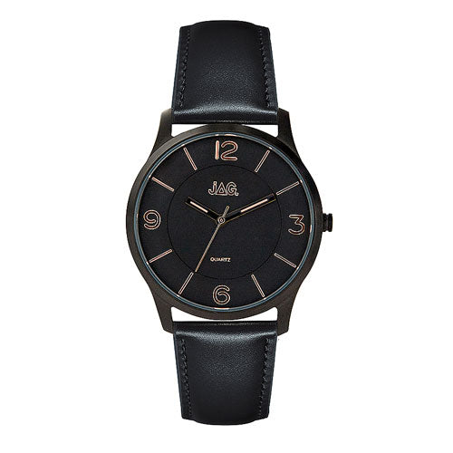 Jag 'Charlie' Leather Strap Watch J2048
