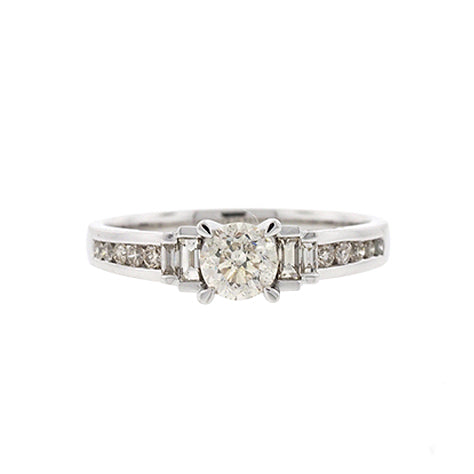 18ct White Gold Diamond Engagement Ring TW 1ct