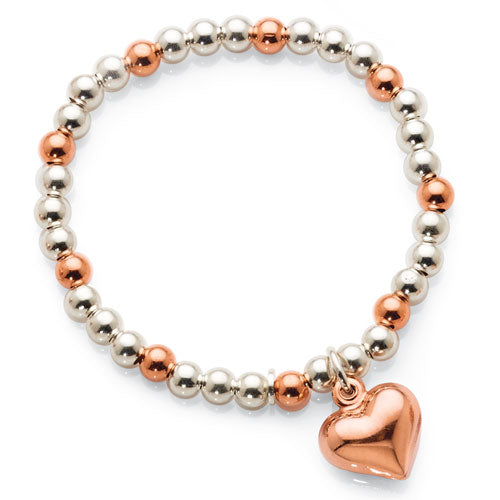Sterling Silver Rose Tone Children's Bracelet
