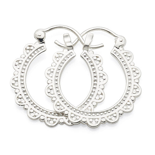 Sterling Silver 16mm Hoops
