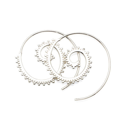 Sterling Silver 28mm Thread Hoops
