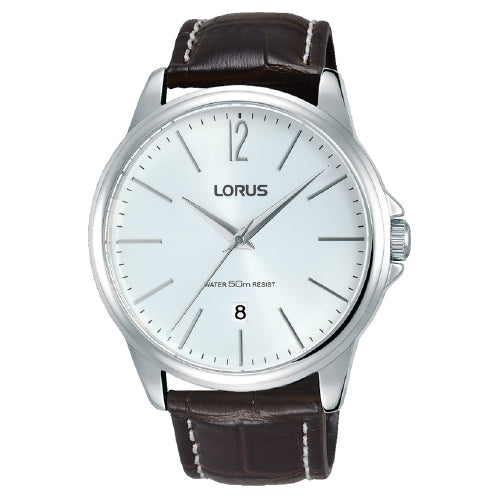 Lorus Brown Leather Strap Watch RS913DX-8