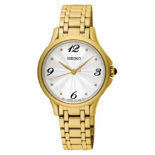 SEIKO Conceptual Ladies Gold-Tone Watch SRZ494P