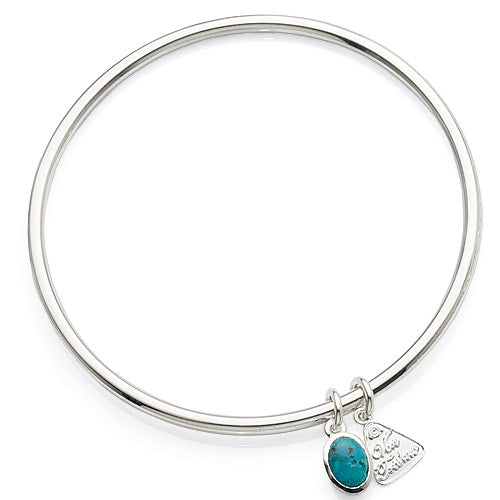 Von Treskow Sterling Silver Turquoise Bangle TQB01
