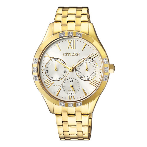 Citizen Women's Gold Swarovski Watch ED8172-51A