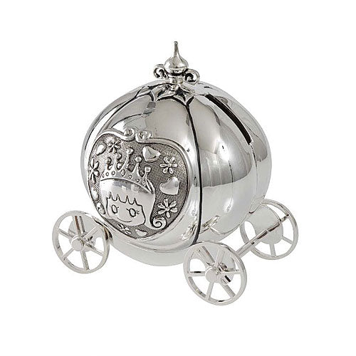 Silver Plated Pumpkin Coach Money Box