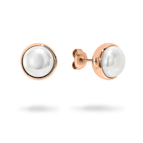 Georgini Rose-Tone 10mm Pearl Studs E717RG