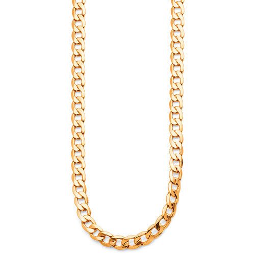 9ct Yellow Gold Bonded Curb Chain