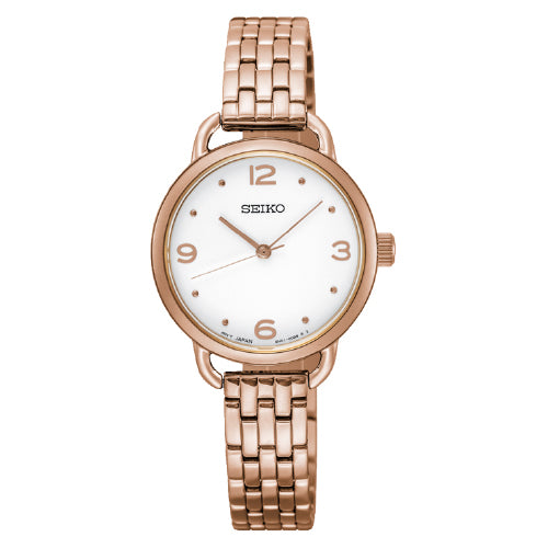SEIKO Ladies Rose-Tone Dress Watch SUR672P