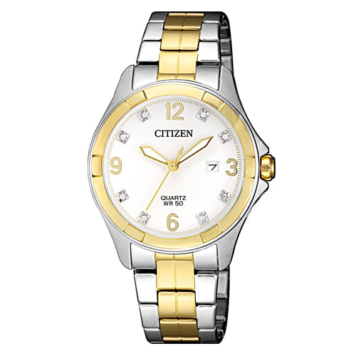 Citizen 2-Tone Crystal Set Watch EU6084-57A