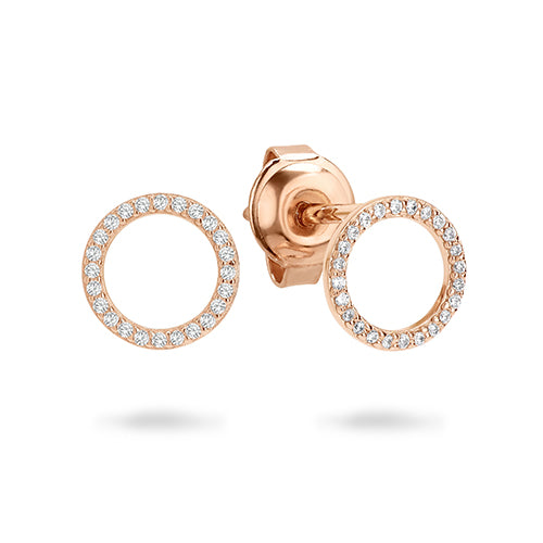 Georgini 'Ara' Rose-Tone 10mm Studs E742RG