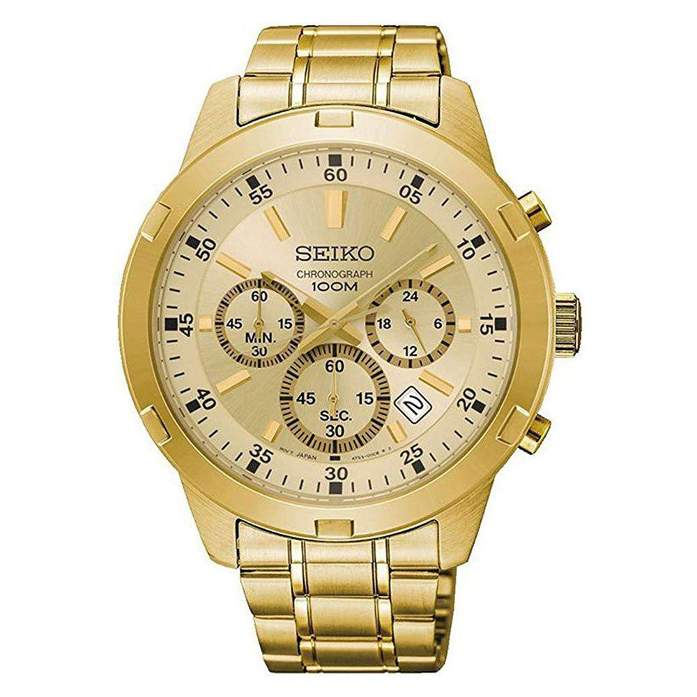 Seiko Gold-Tone Chronograph Watch SKS610P