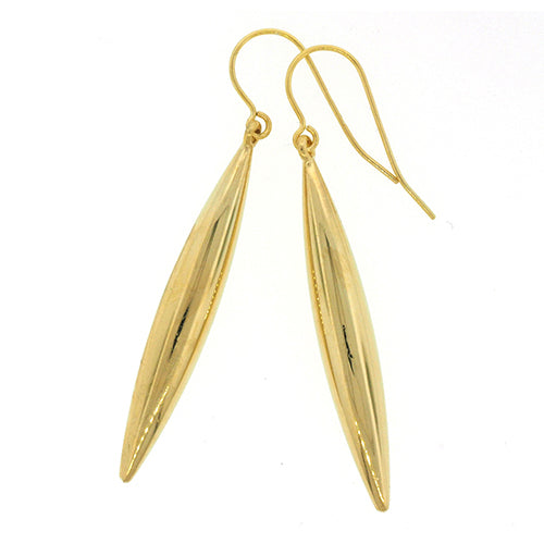 9ct Gold Bonded Drop Hook Earrings