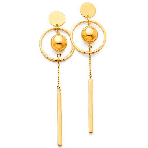 Yellow Gold Bonded Drop Studs