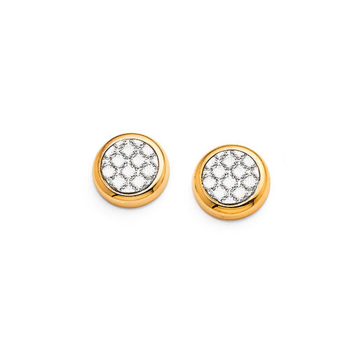 Yellow Gold Bonded 7mm Studs