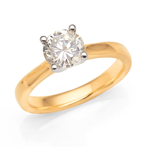 1.25ct Solitaire Engagement Ring In 18ct Gold