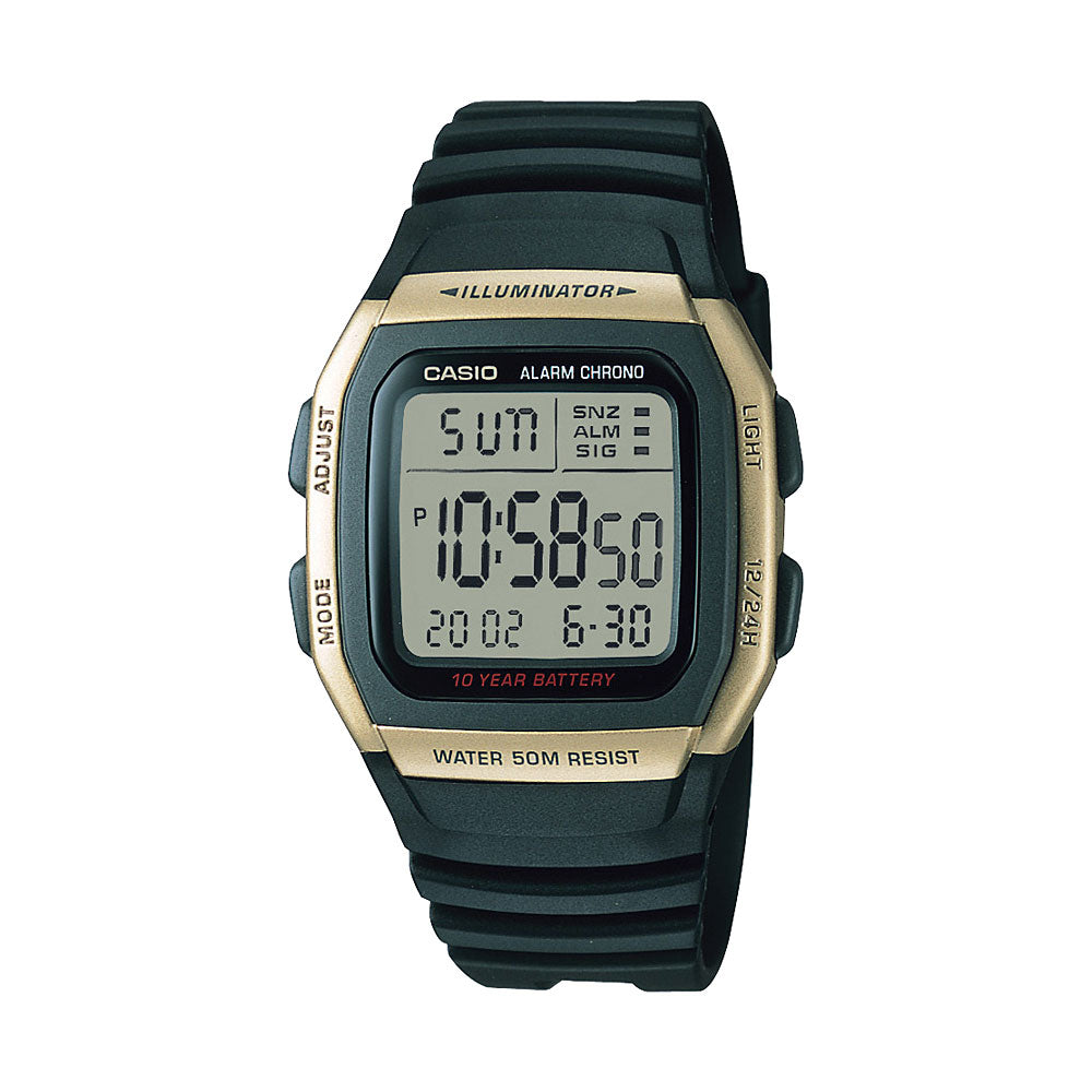 Casio Gold & Black Digital Watch W96H-9A