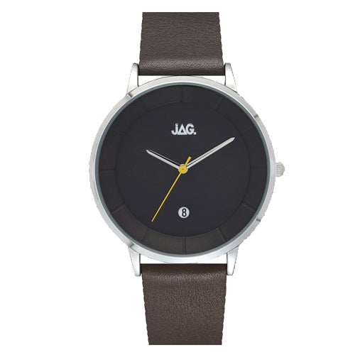 Jag 'Hudson' Leather Strap Watch J2147