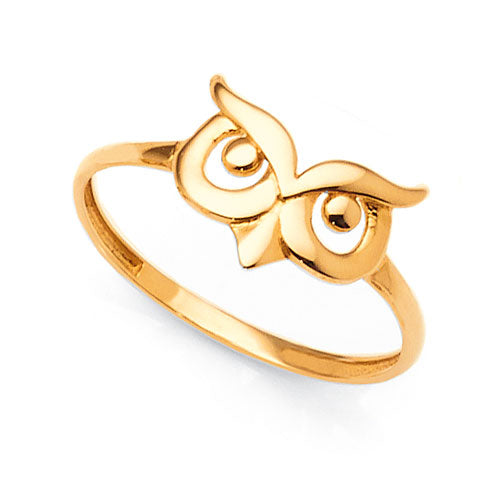 9ct Yellow Gold Owl Ring