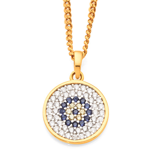 Yellow Gold Cubic Zirconia Pendant