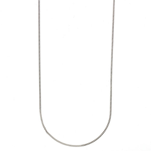 9ct White Gold 45cm Curb Link Chain