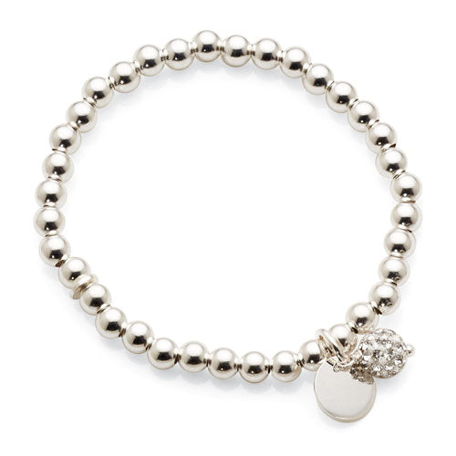 Sterling Silver Crystal Children's Bracelet