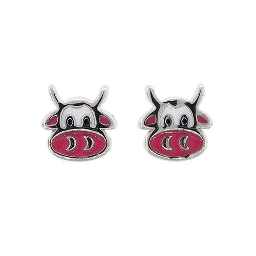 Sterling Silver  7mm Cow Studs