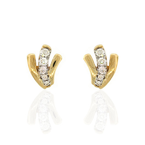9ct Gold Diamond Stud Earrings TDW 0.13CT