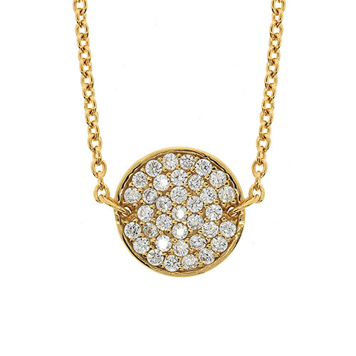 Gold-tone Sterling Silver Cubic Zirconia Necklet