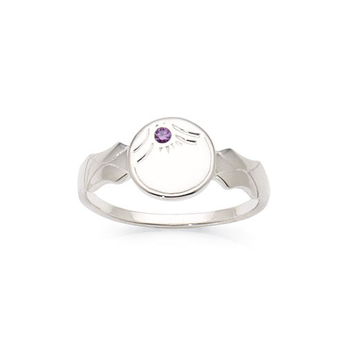 Sterling Silver Cubic Zirconia Children's Ring