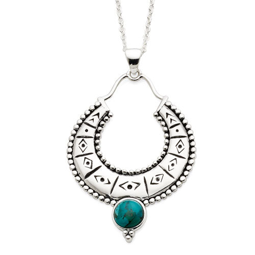Sterling Silver Turquoise Necklet