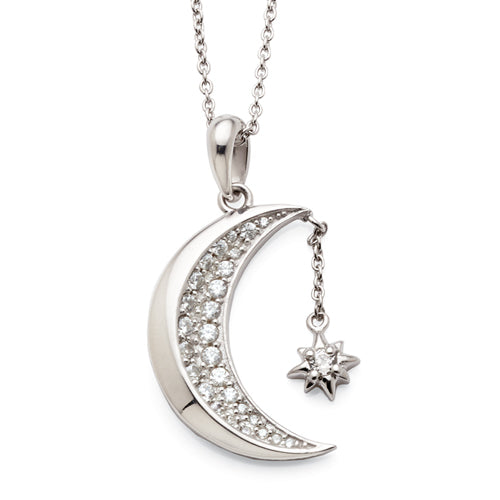 Sterling Silver Moon Pendant