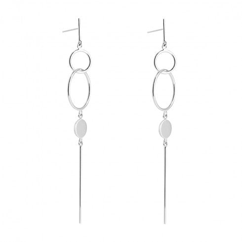 Najo Chant Sterling Silver 90mm Drop Studs E5784
