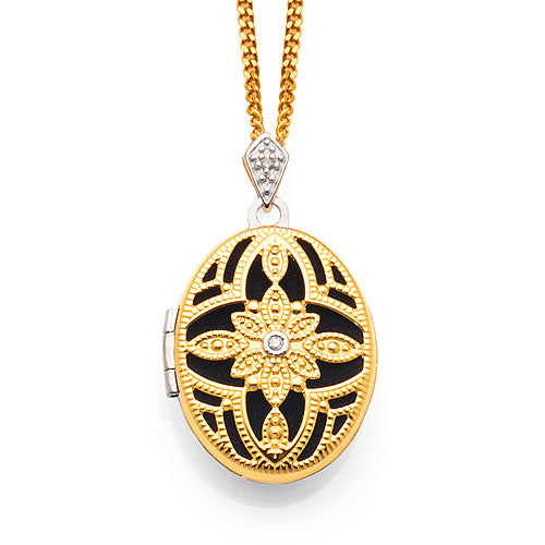 9ct Yellow Gold & Sterling Silver Locket