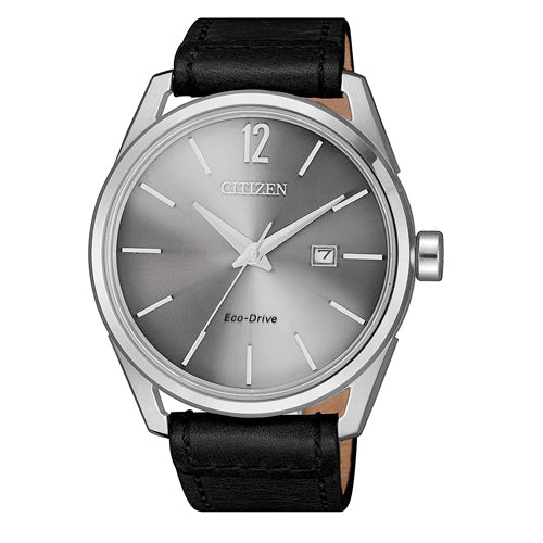 Citizen Eco-Drive Black Leather Watch BM7411-16A