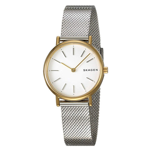 Skagen 'Signatur Slim' 2-Tone Watch SKW2729